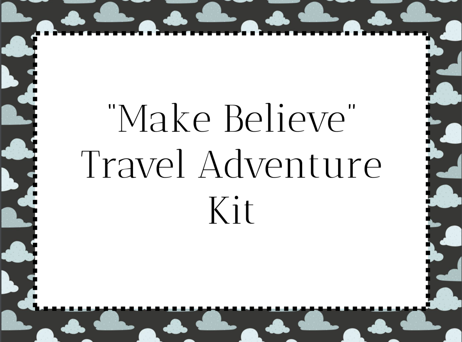 Printable Passport for Kids- Pretend Travel Adventure Kit