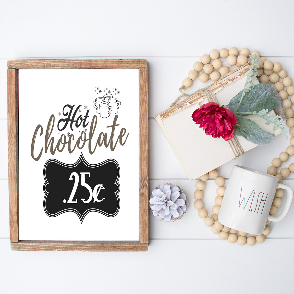 Hot Chocolate .25 Cents Sign {Free Printable}