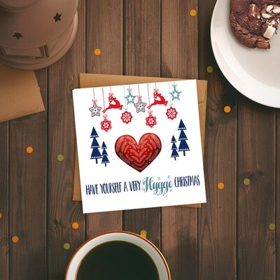Have Yourself a Very Hygge Christmas Nordic Style Square Card