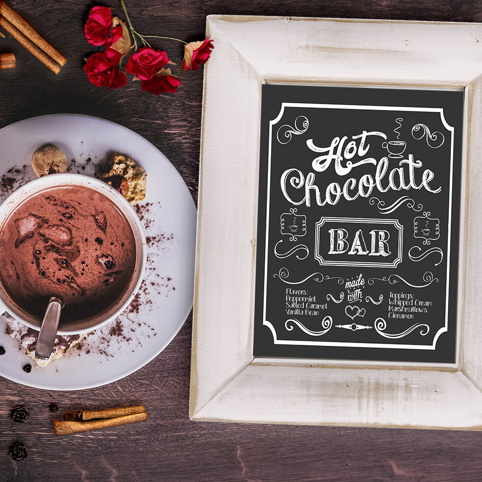 Hot Chocolate Bar Free Chalkboard Printable Sign