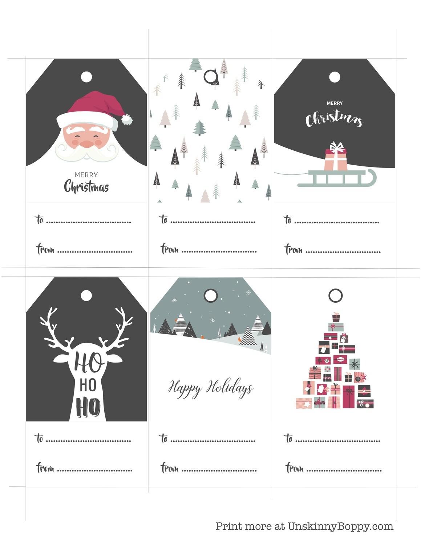 Christmas Gift Tags Free Printable