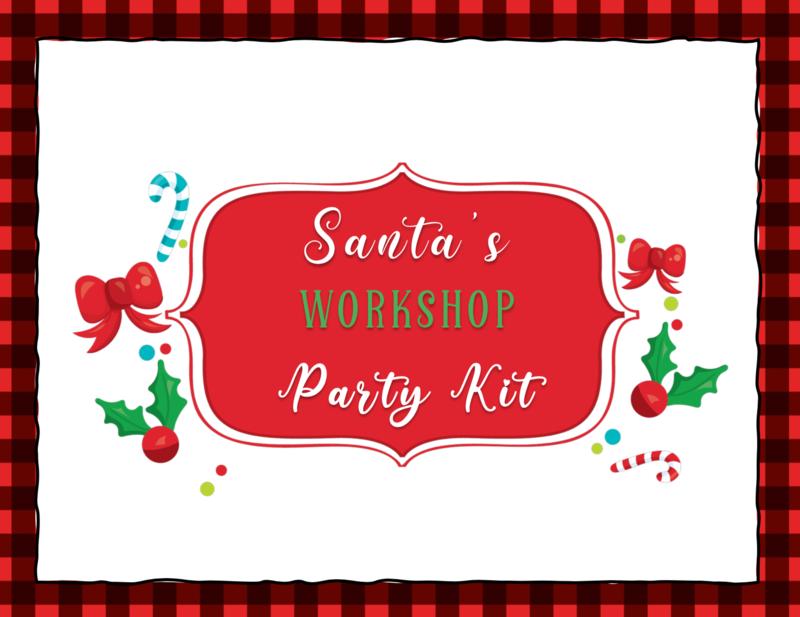 Santa's Workshop Themed Christmas Party Kit