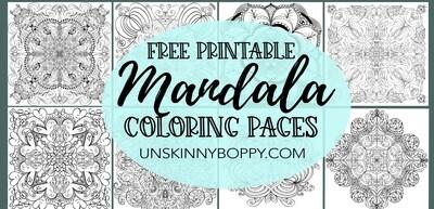Mandala Adult Coloring Books- Free Printable Pages
