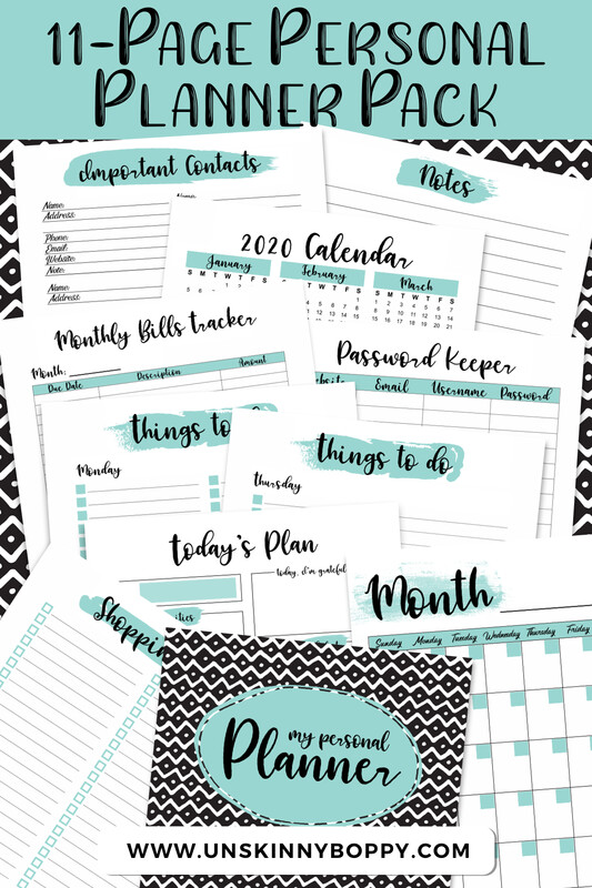 My Personal Planner! Daily~Weekly~Monthly Planner with To-Do List, Grocery Lists, Password Tracker and lots more!