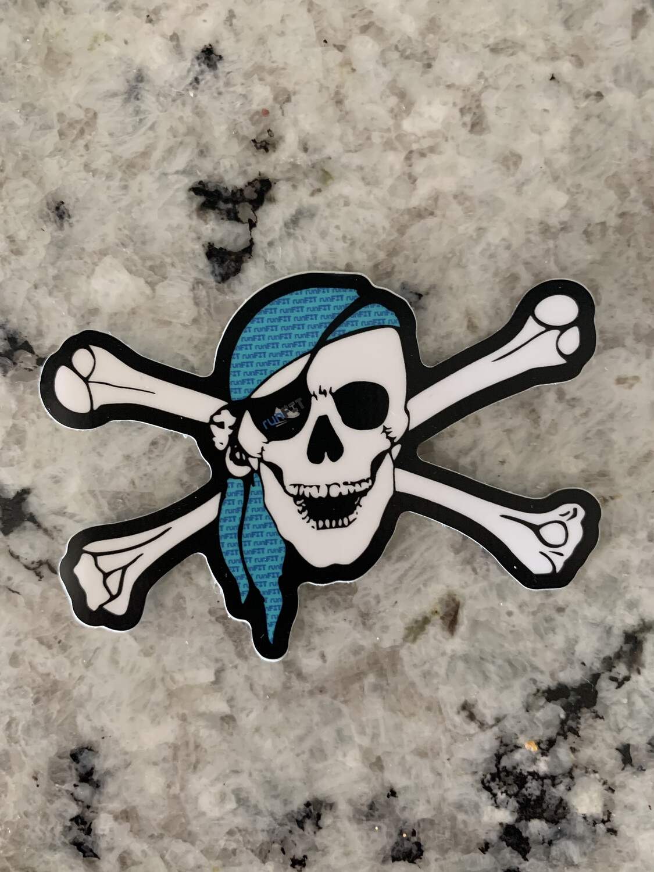 2x3 runFIT Pirate Vinyl Waterproof Sticker