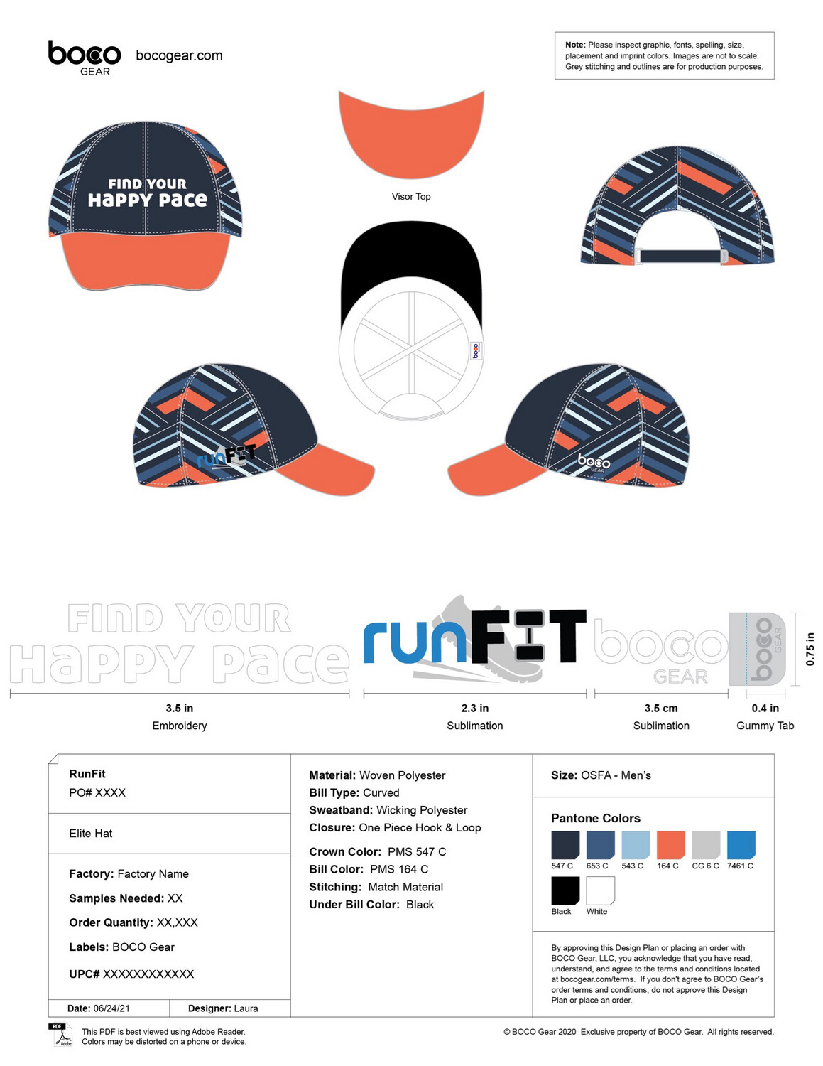 Pre-Sale! Find Your Happy Pace Running Hat