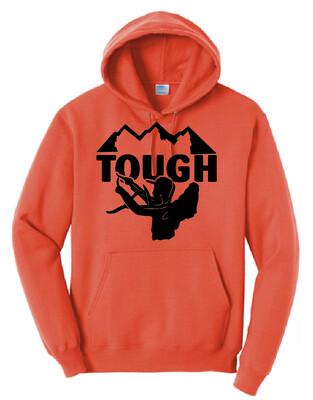 MTN TOUGH Orange Hooded Sweatshirt