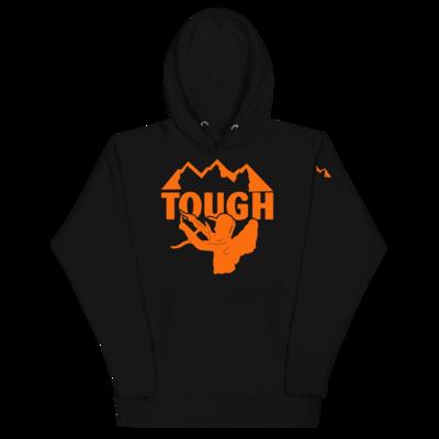 MTN TOUGH Hoodie (black or white)- Orange