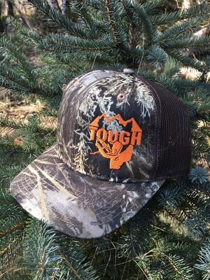 TOUGH Snapback Trucker Cap - Realtree - Orange