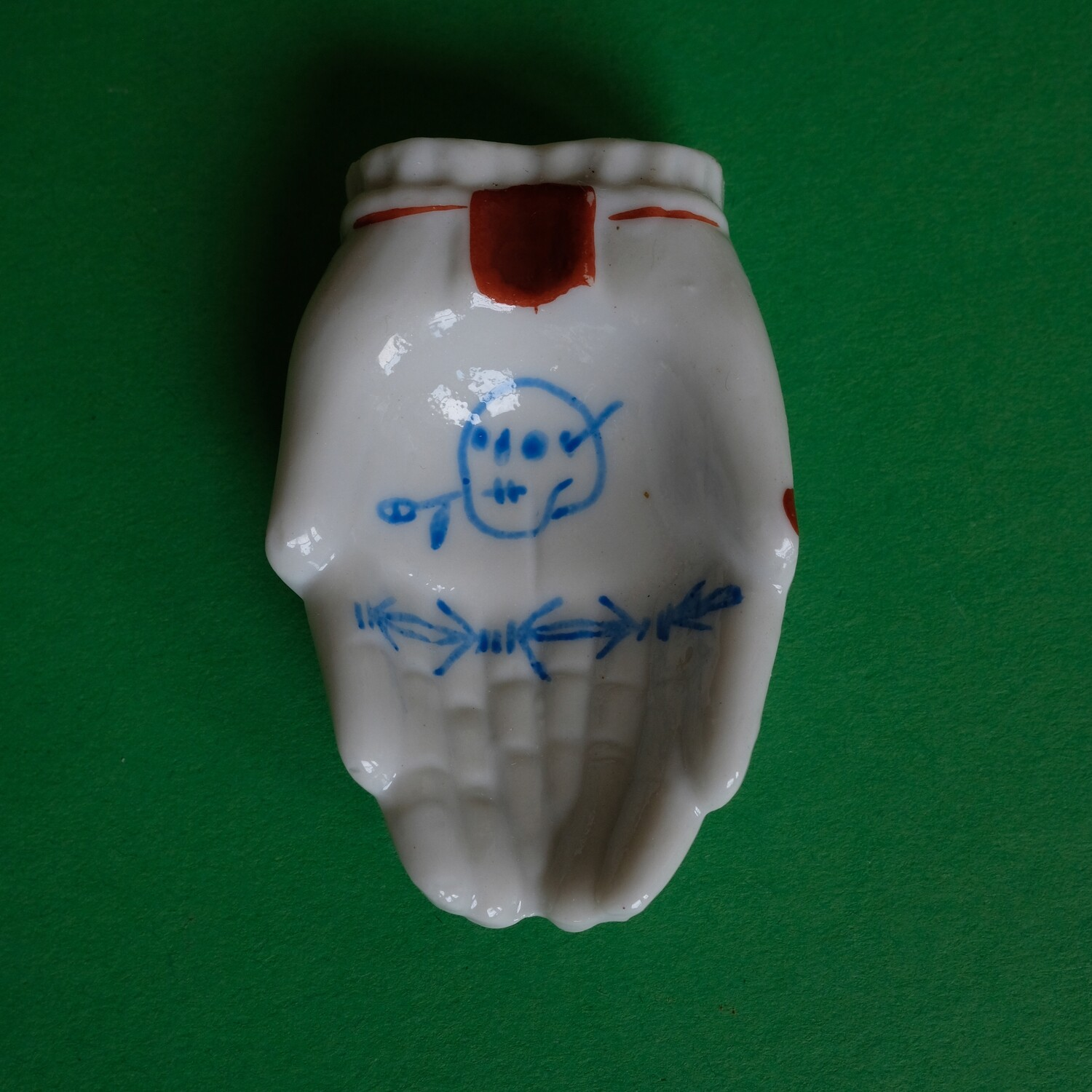 #48 - Small hand painted vintage Japanese ashtray by Bruno Levy