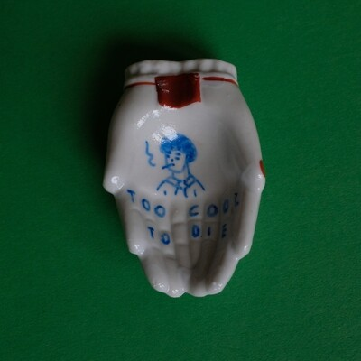 #41 - Small hand painted vintage Japanese ashtray by Bruno Levy