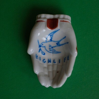 #50 - Small hand painted vintage Japanese ashtray by Bruno Levy