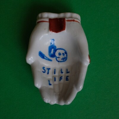 #52 - Small hand painted vintage Japanese ashtray by Bruno Levy