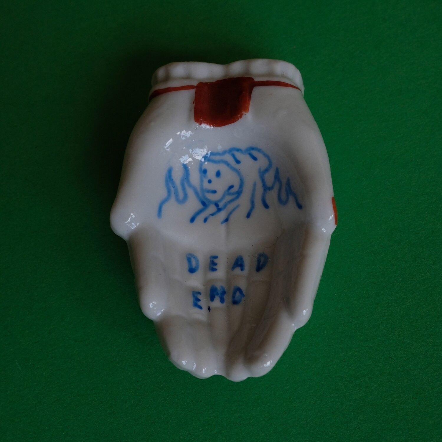 #58 - Small hand painted vintage Japanese ashtray by Bruno Levy