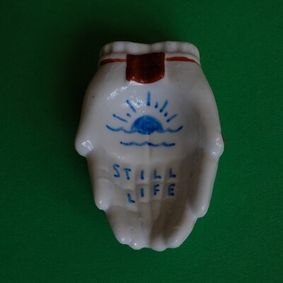 #66 - Small hand painted vintage Japanese ashtray by Bruno Levy