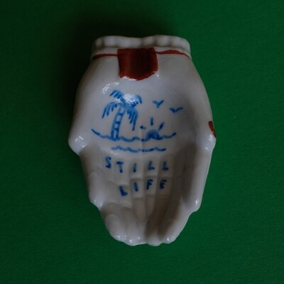 #69 - Small hand painted vintage Japanese ashtray​ by Bruno Levy