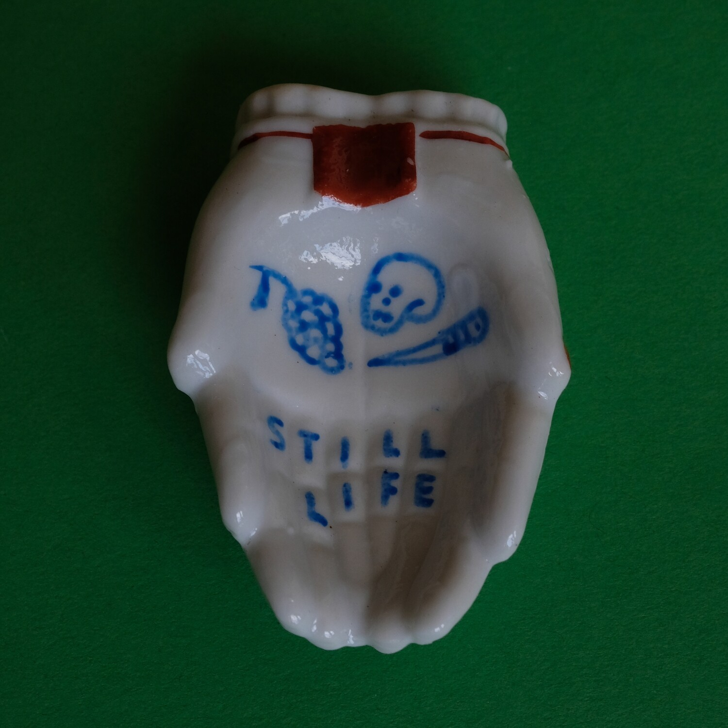 #67 - Small hand painted vintage Japanese ashtray by Bruno Levy