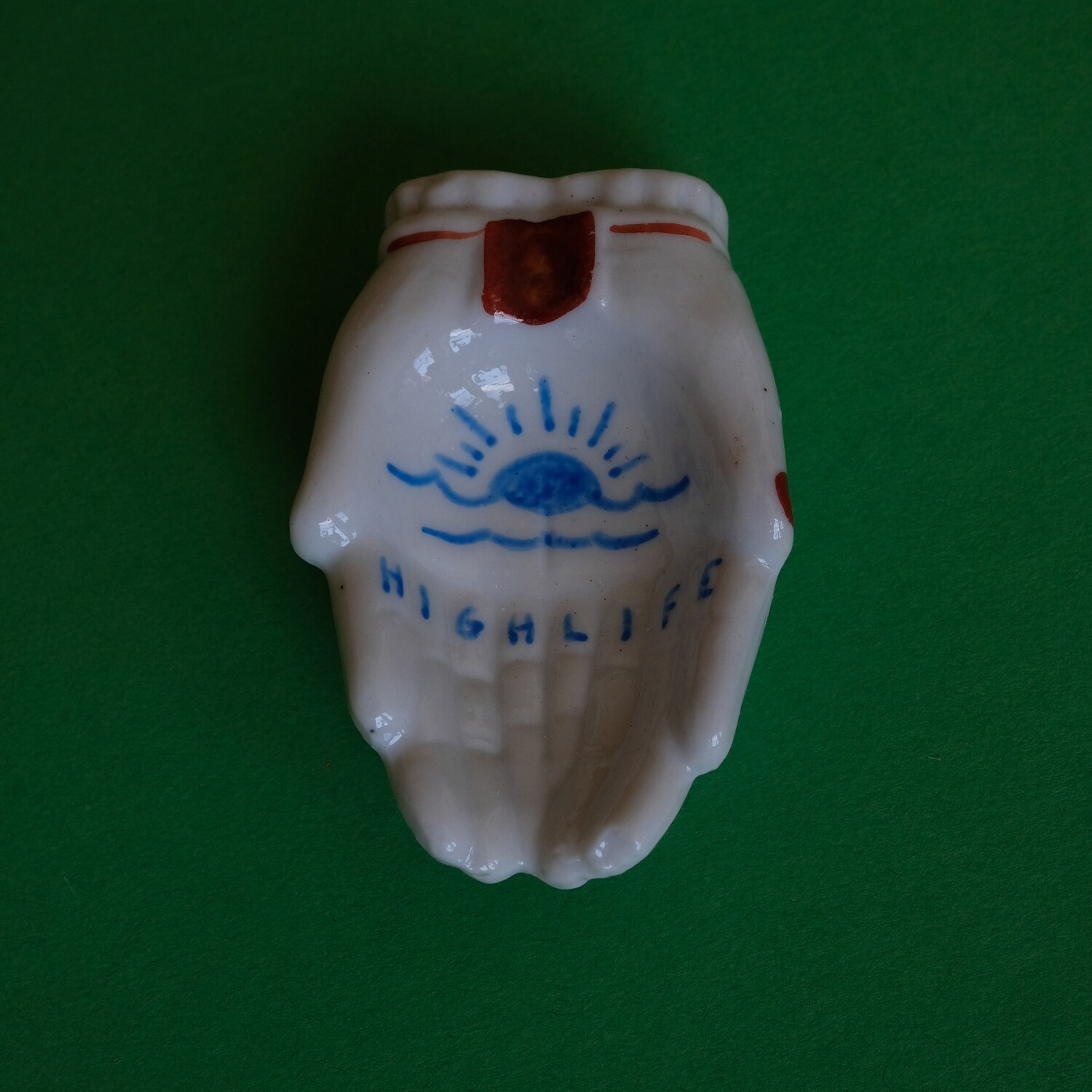 #76 - Small hand painted vintage Japanese ashtray by Bruno Levy