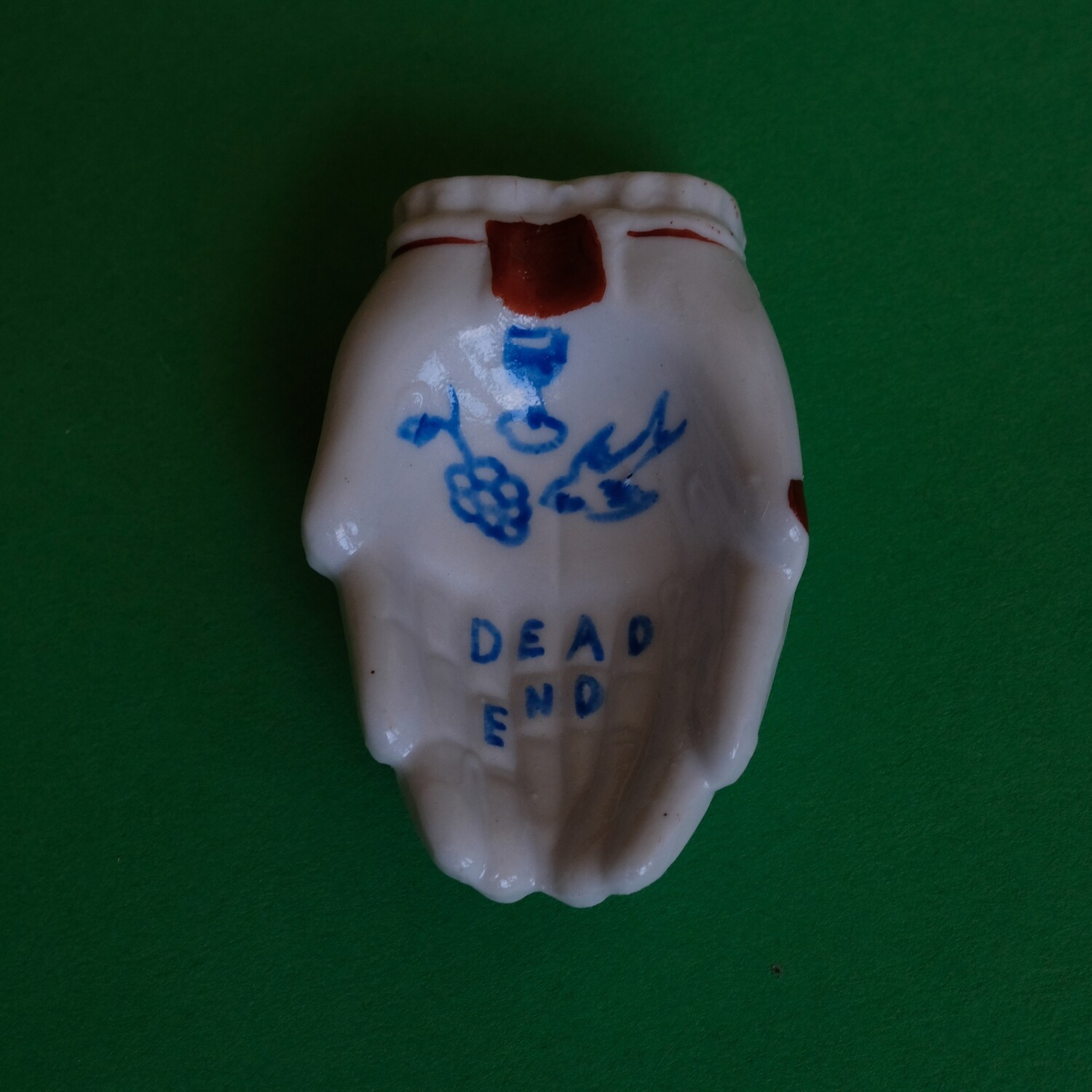 #79 - Small hand painted vintage Japanese ashtray by Bruno Levy