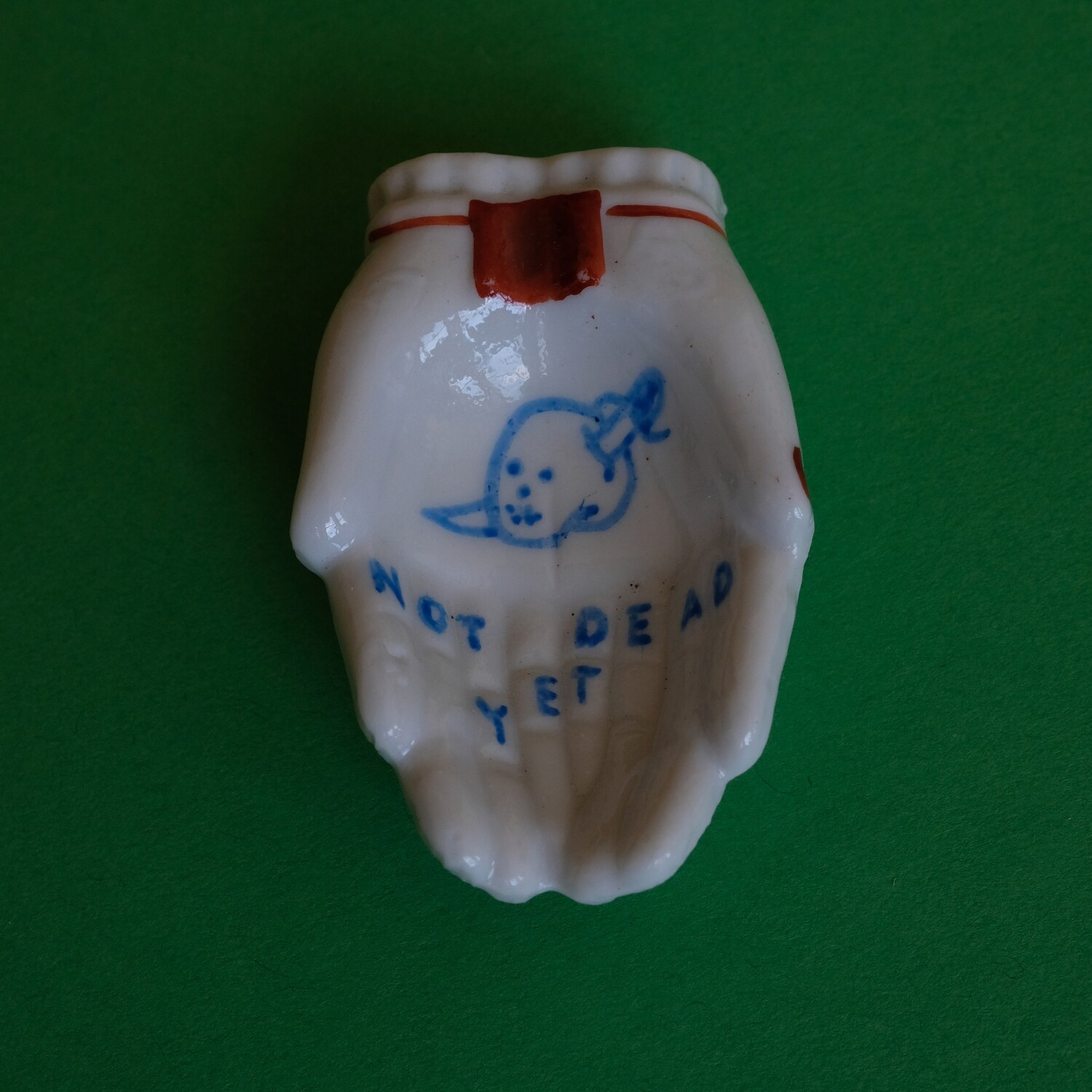 #86 - Small hand painted vintage Japanese ashtray by Bruno Levy