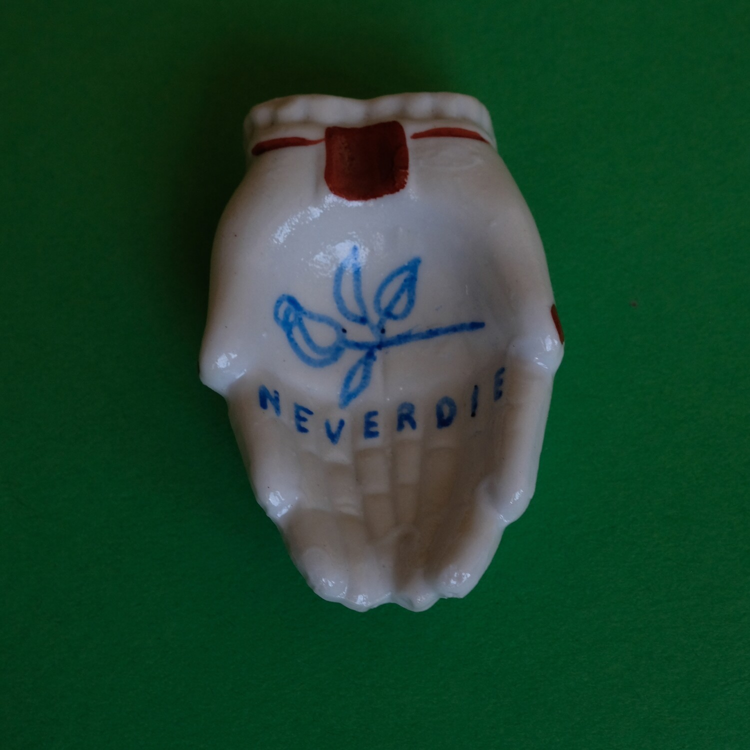 #88 - Small hand painted vintage Japanese ashtray by Bruno Levy