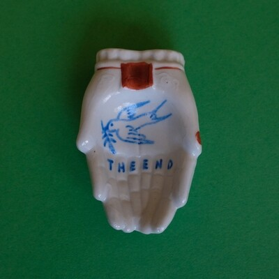 #98 - Small hand painted vintage Japanese ashtray​ by Bruno Levy