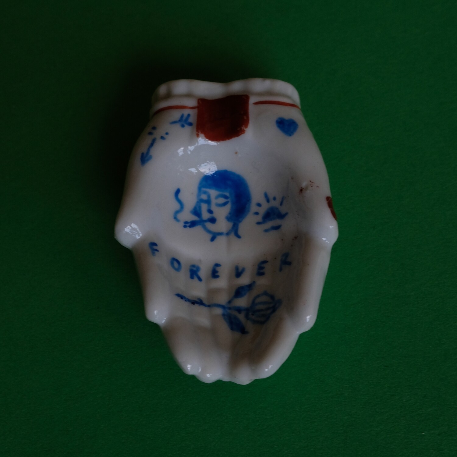 #74 - Small hand painted vintage Japanese ashtray by Bruno Levy