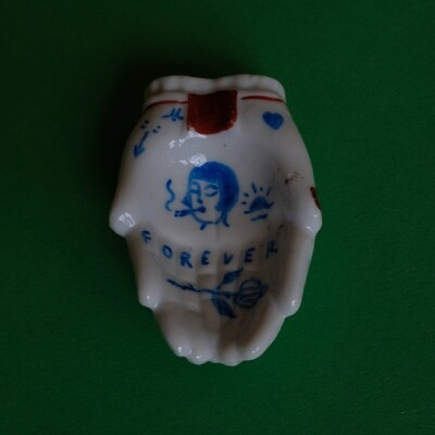 #74 - Small hand painted vintage Japanese ashtray​ by Bruno Levy