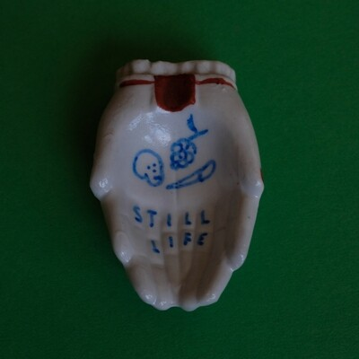 #81 - Small hand painted vintage Japanese ashtray​ by Bruno Levy