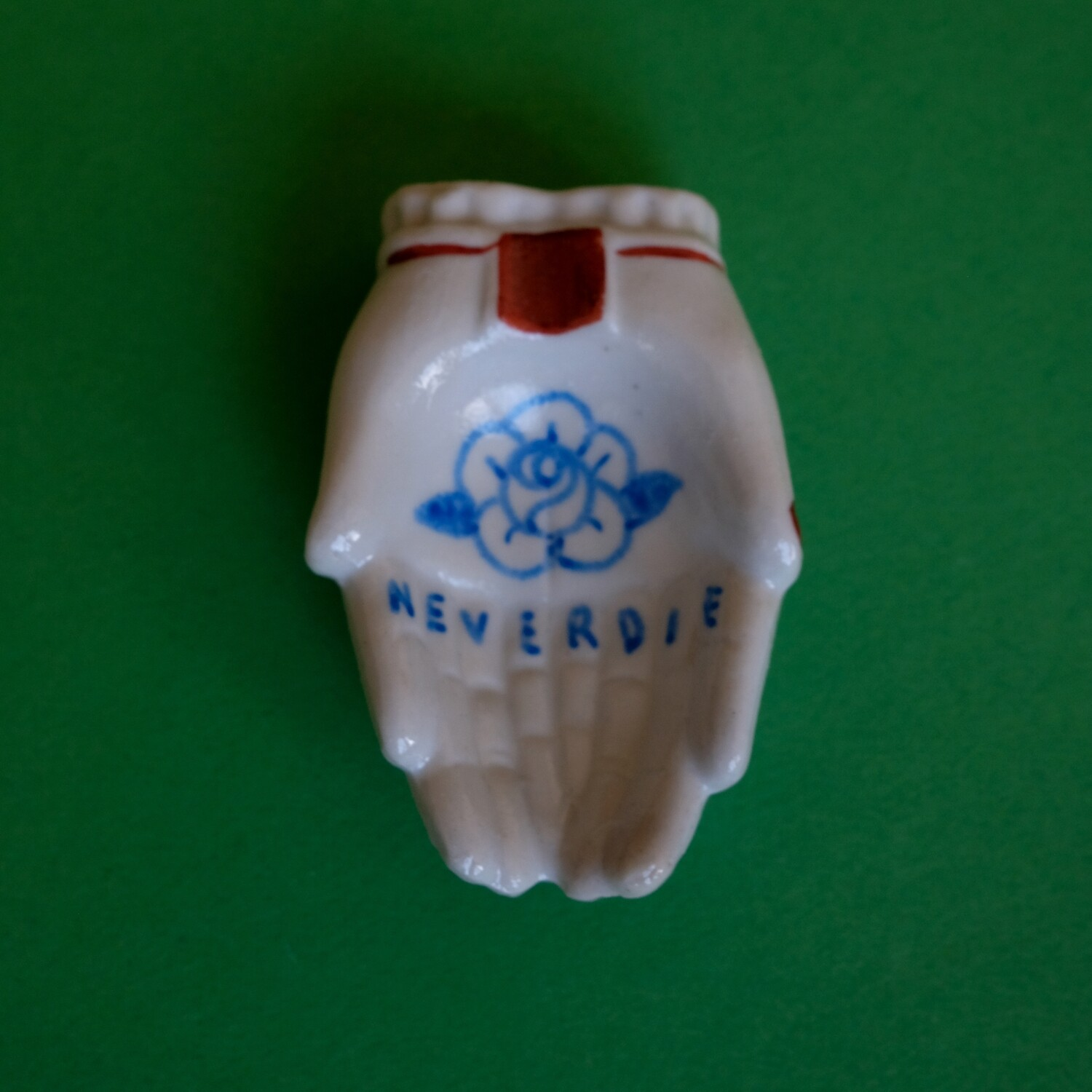 #99 - Small hand painted vintage Japanese ashtray by Bruno Levy
