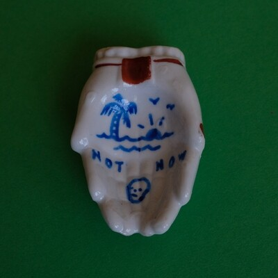 #87 - Small hand painted vintage Japanese ashtray​ by Bruno Levy