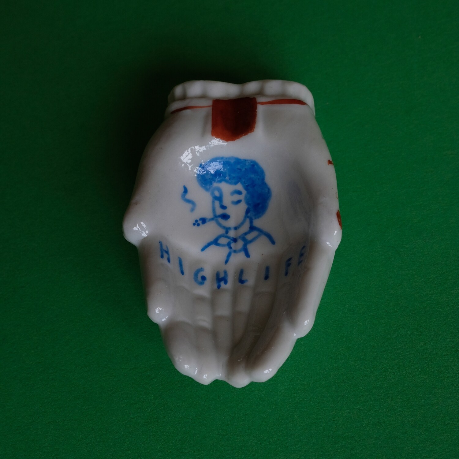 #21 - Small hand painted vintage Japanese ashtray by Bruno Levy