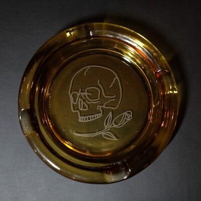 Ashtray Skull & Rose
