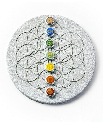Stone Grid with Chakra Placements