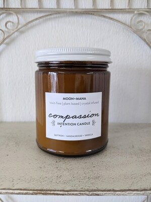 Moon & Mana Intention Candle - Compassion 9oz