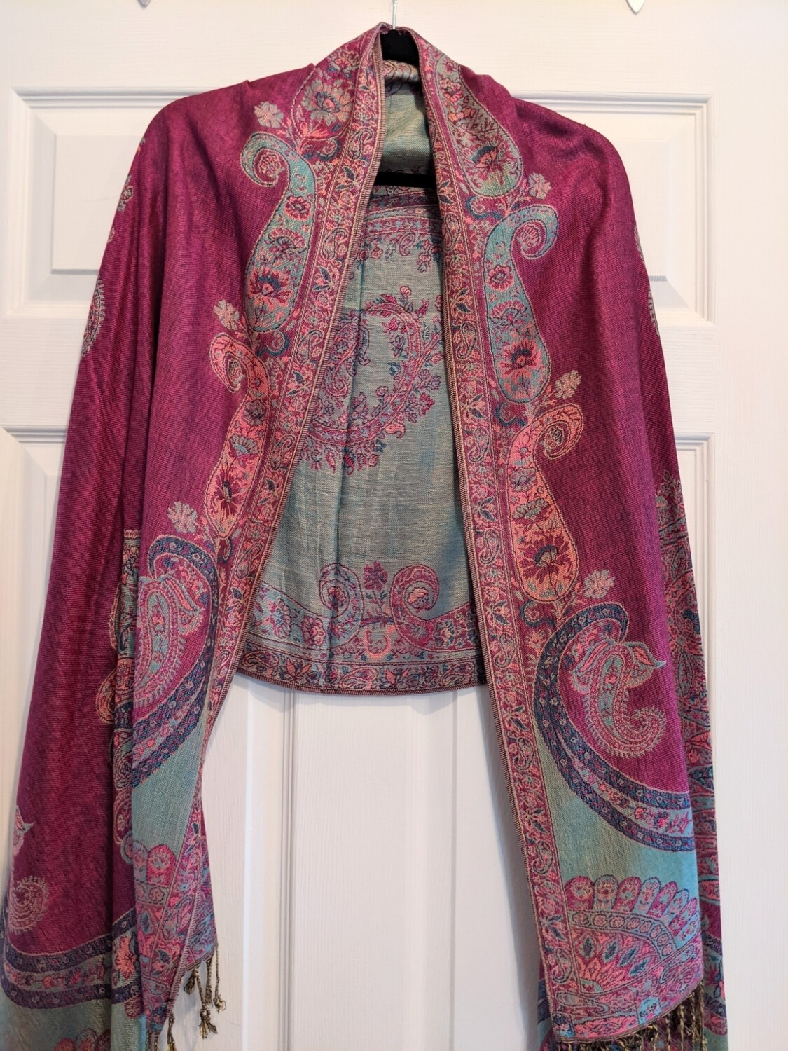 Pashmina - Pink and Turquoise