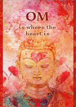 Greeting Card - Om Is Where The Heart Is