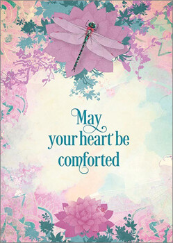Greeting Card - May Your Heart Be Comforted