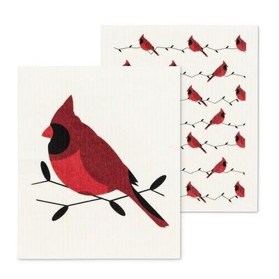 The Amazing Swedish Dishcloth - Cardinal Set of 2