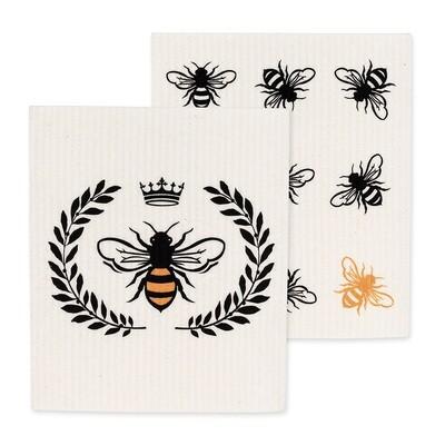 The Amazing Swedish Dishcloth - Bees Set of 2