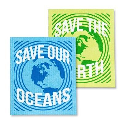 The Amazing Swedish Dishcloth - Save the Earth Set of 2