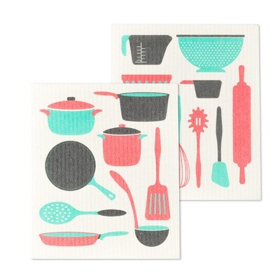 The Amazing Swedish Dishcloth - Kitchen Utensils Set of 2