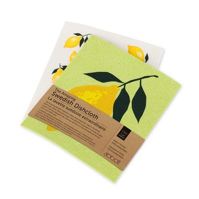 The Amazing Swedish Dishcloth - Lemons Set of 2