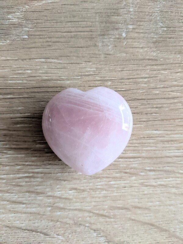 Puffed Heart - Rose Quartz 1.5