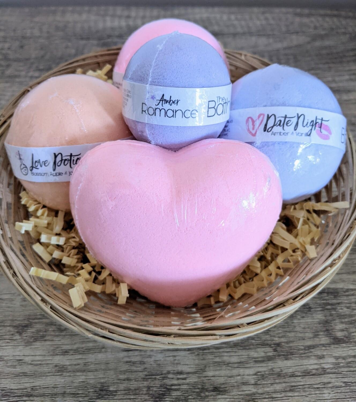 Valentine's Bath Bomb Set - Pink Heart