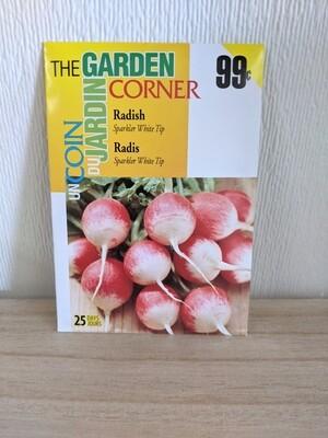 The Garden Corner - Radish Seeds (Sparkler White Tip)