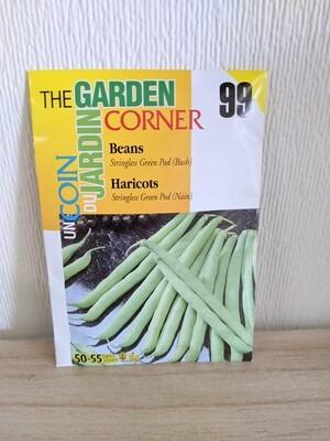 The Garden Corner - Bean Seeds (Stringless Green Pod)