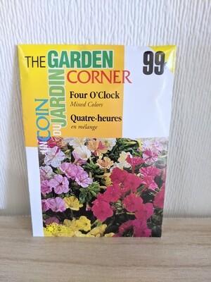 The Garden Corner - Four O'Clock Seeds (Mixed Colours)