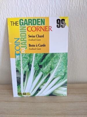 The Garden Corner - Swiss Chard Seeds