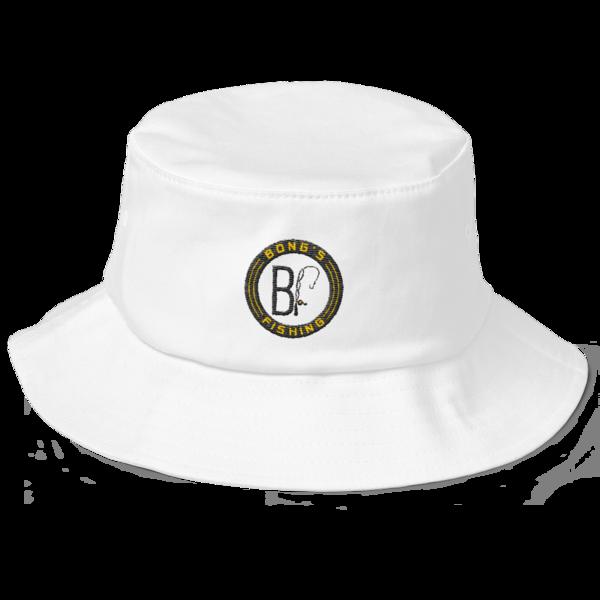 Black Label white bucket hat